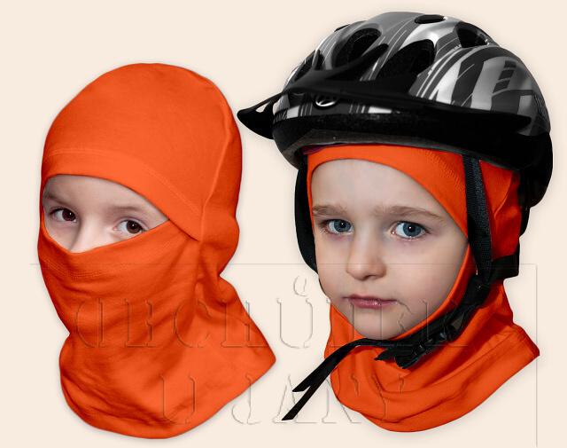 Kukla pod helmu oranžová tmavá