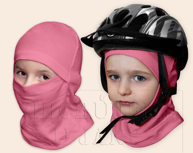 Kukla pod helmu růžová