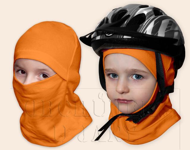Kukla pod helmu oranžová světlá