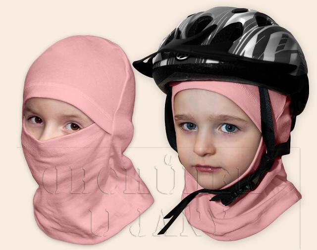 Kukla pod helmu růžová světlá