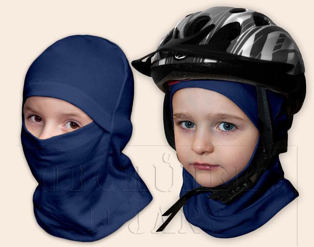 Kukla pod helmu modrá