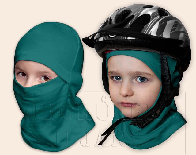 Kukla pod helmu zelenomodrá