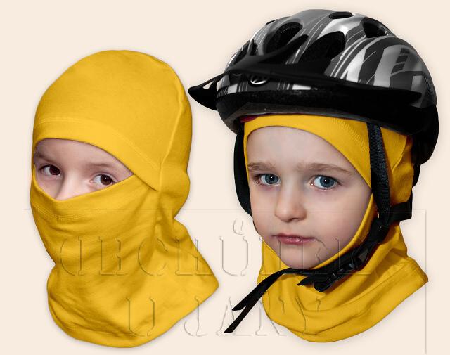 Kukla pod helmu žlutá