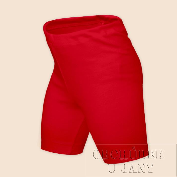 Dětské legíny krátké červené