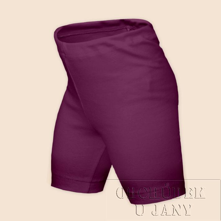 Dětské legíny krátké fialovo-růžové