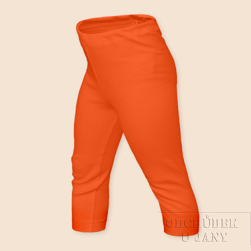 Dětské legíny 3/4 oranžové tmavé
