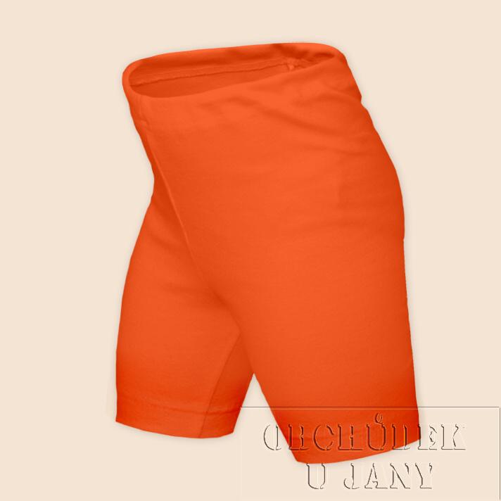 Dětské legíny krátké oranžové tmavé