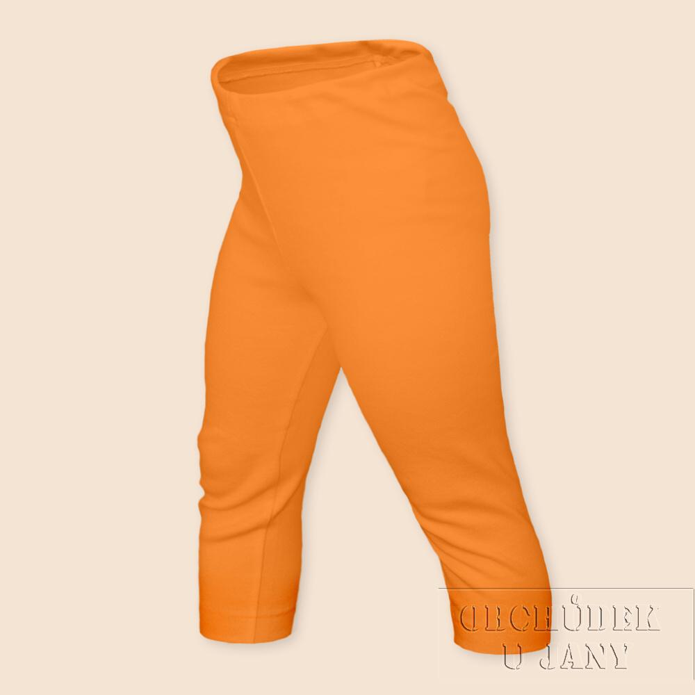 Dětské legíny 3/4 oranžové světlé