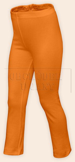 Dětské legíny rovné oranžové světlé