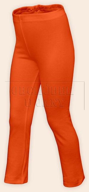 Dětské legíny rovné oranžové tmavé