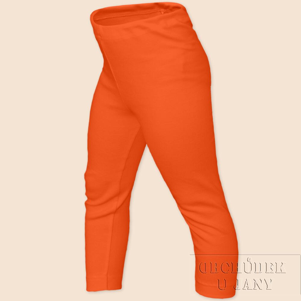 Dětské legíny dlouhé oranžové tmavé