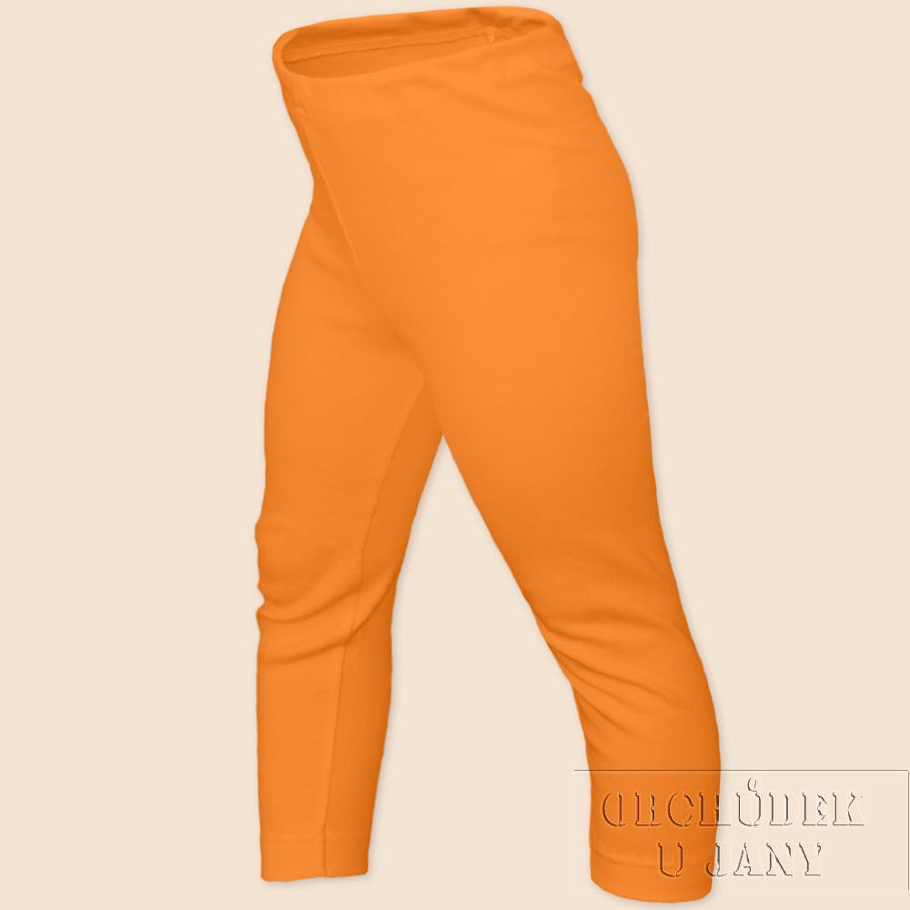 Dětské legíny dlouhé oranžové světlé