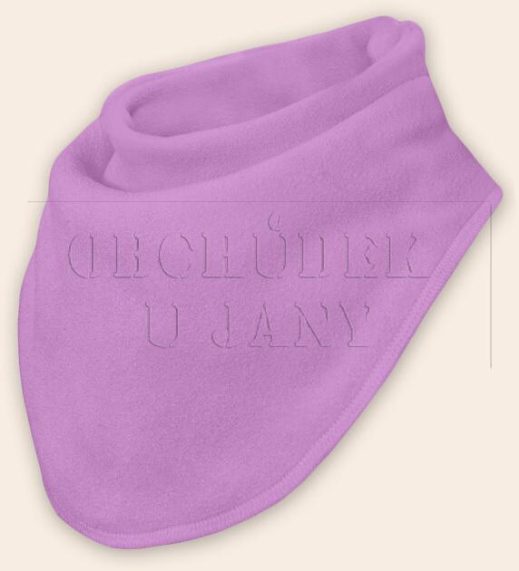 Nákrčník - šátek flísový lila