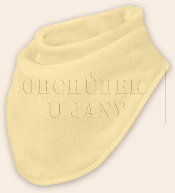 Nákrčník - šátek flísový žlutý