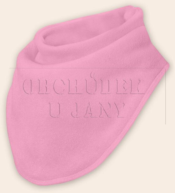 Nákrčník - šátek flísový růžový světlý