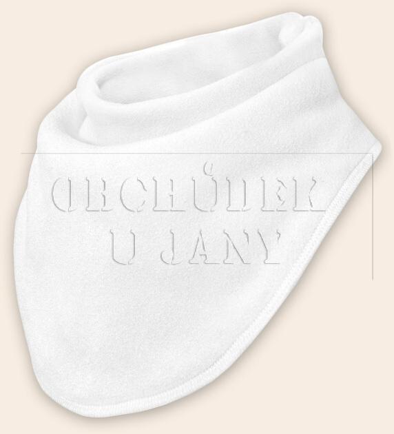 Nákrčník - šátek flísový bílý