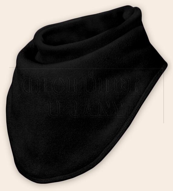 Nákrčník - šátek flísový černý