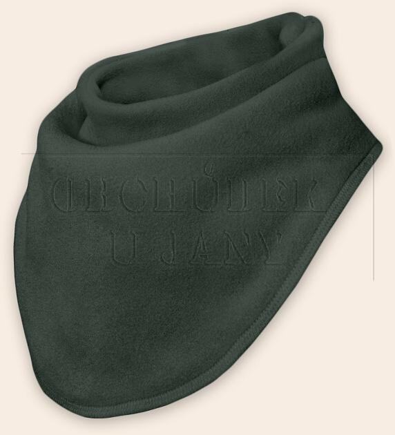 Nákrčník - šátek flísový khaki
