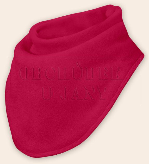 Nákrčník - šátek flísový růžový tmavý