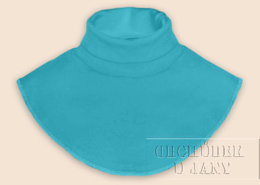 Nákrčník - rolák modrý tyrkysový