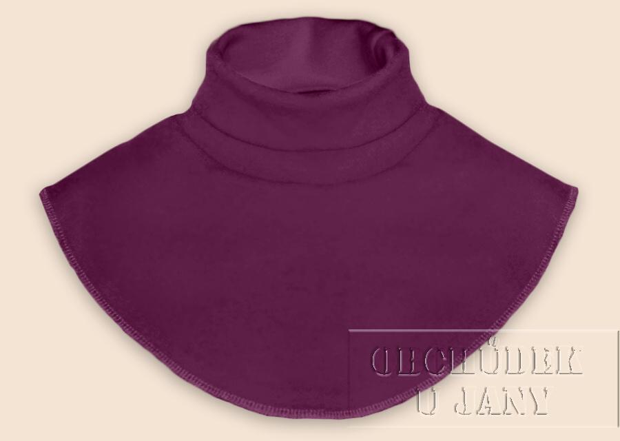 Nákrčník - rolák fialovo-růžový