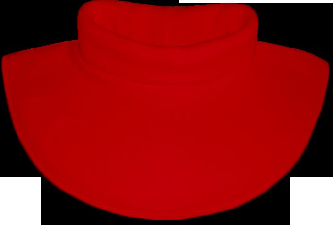 Nákrčník - rolák flísový červený