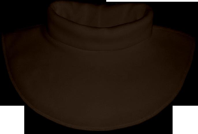 Nákrčník - rolák flísový hnědý tmavý