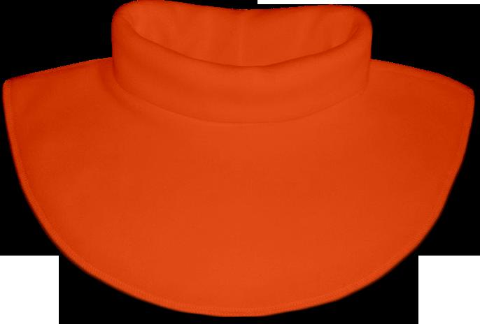 Nákrčník - rolák flísový oranžový tmavý