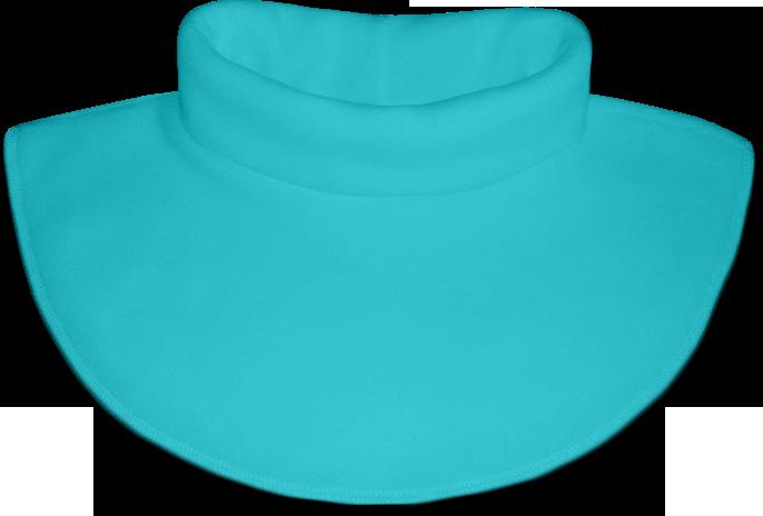 Nákrčník - rolák flísový modrý tyrkysový
