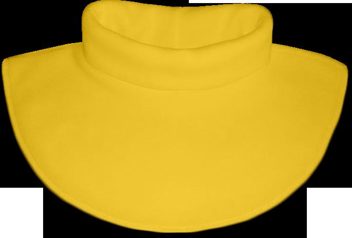 Nákrčník - rolák flísový žlutý