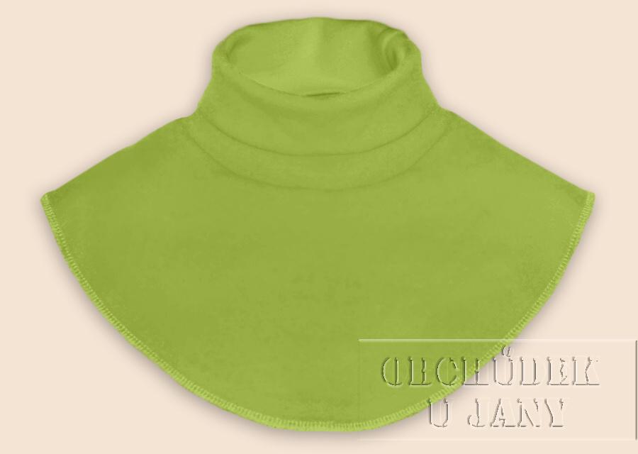 Nákrčník - rolák zelený hráškový