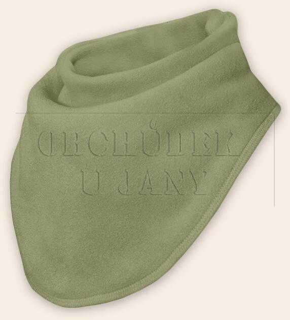 Nákrčník - šátek flísový zelený