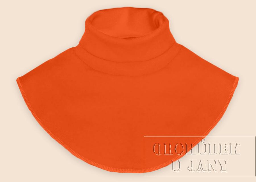 Nákrčník - rolák oranžový tmavý