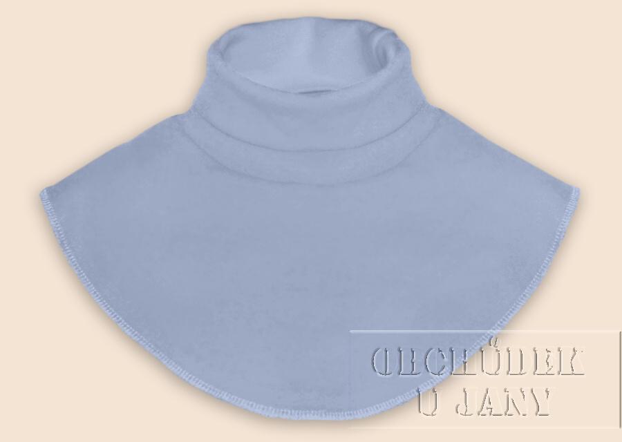 Nákrčník - rolák modrý pomněnkový