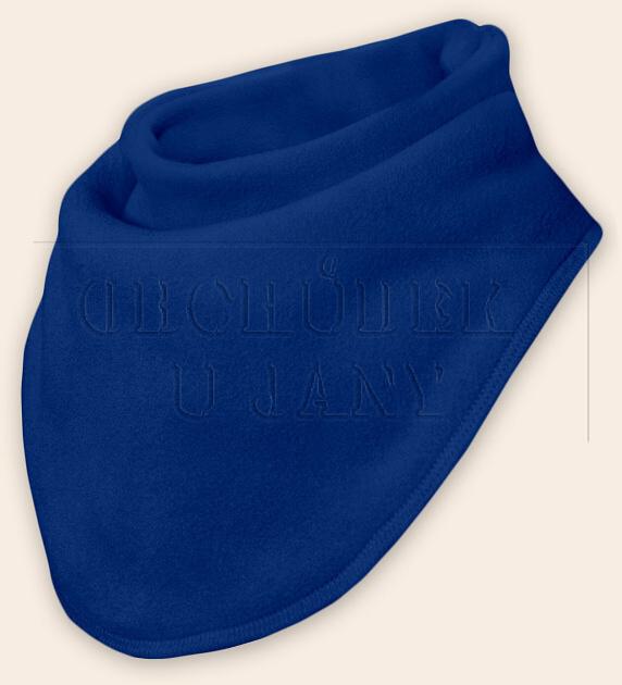 Nákrčník - šátek flísový modrý royal