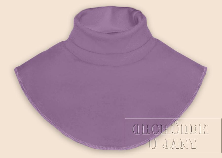 Nákrčník - rolák fialový šeříkový