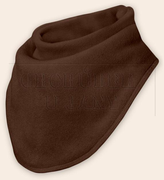 Nákrčník - šátek flísový hnědý světlý
