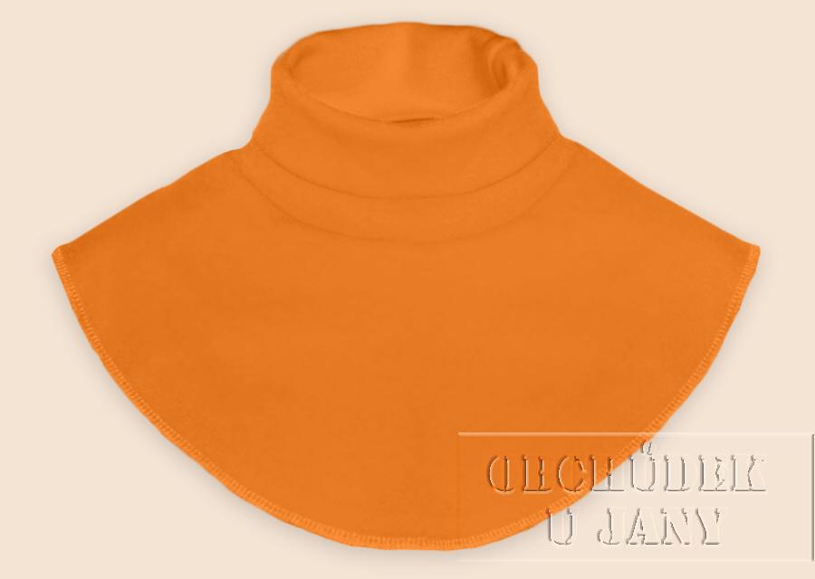 Nákrčník - rolák oranžový světlý
