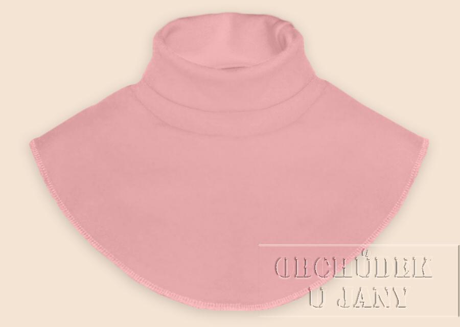 Nákrčník - rolák růžový světlý