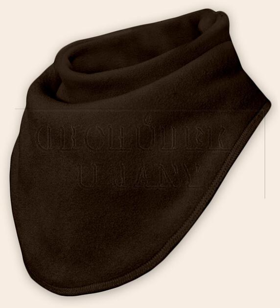 Nákrčník - šátek flísový hnědý tmavý