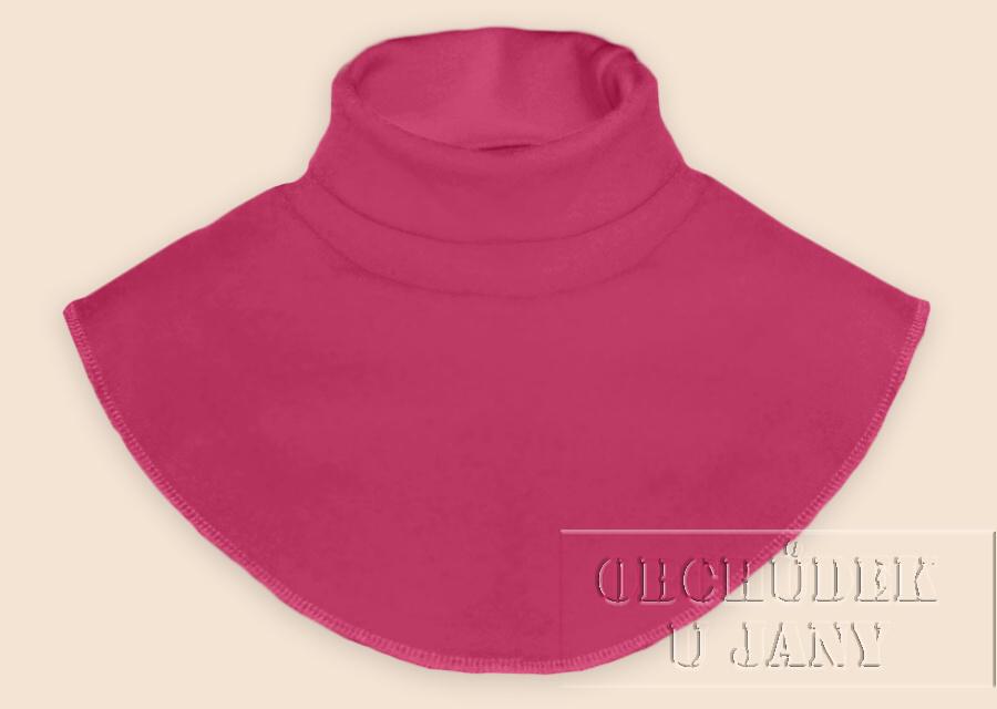 Nákrčník - rolák růžový tmavý