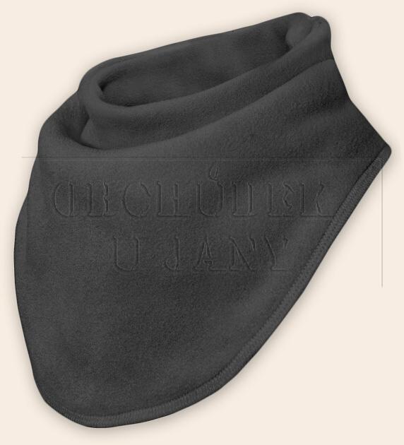 Nákrčník - šátek flísový šedý tmavý