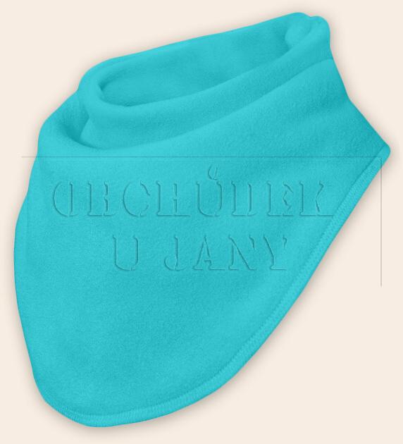 Nákrčník - šátek flísový modrý tyrkysový