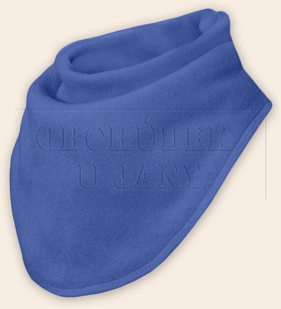 Nákrčník - šátek flísový modrý