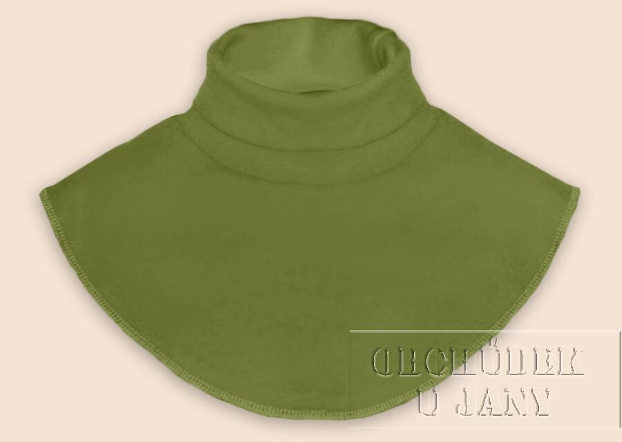 Nákrčník - rolák zelený olivový