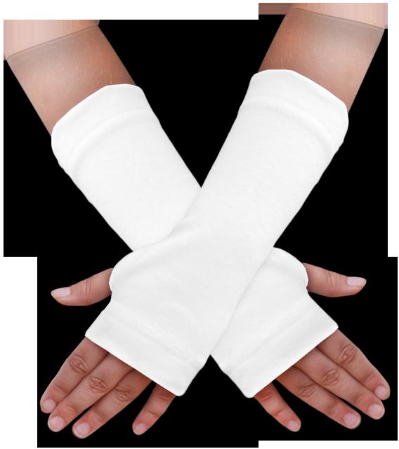 Návleky na ruce bílé