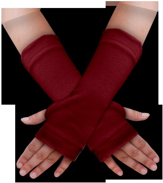 Návleky na ruce bordó