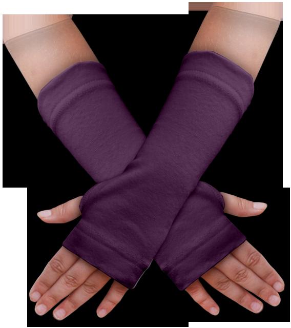 Návleky na ruce fialové