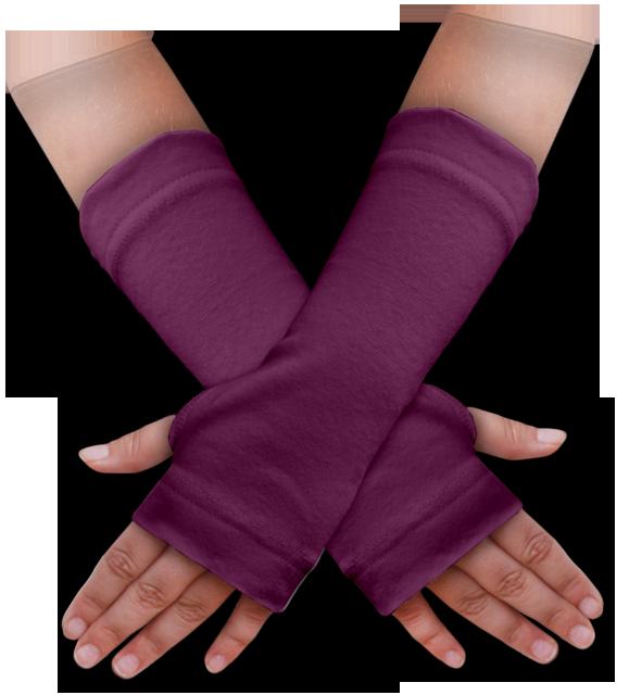 Návleky na ruce fialovo-růžové