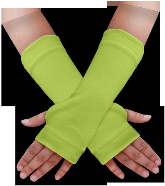 Návleky na ruce zelené hráškové